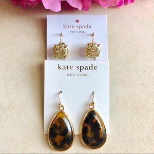 KATE SPADE Earring Gold LOT OF TWO